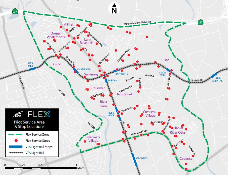 VTA FLEX map