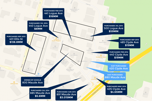 Google Rounds up Entire Block in Mountain View, Expands its Large Presence in the Neighborhood