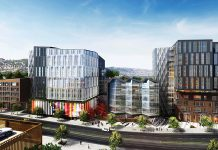 Kilroy Realty, Dropbox, The Exchange on 16th, Mission Bay, San Francisco, Rios Clementi Hale Studios, LEED, creative office space