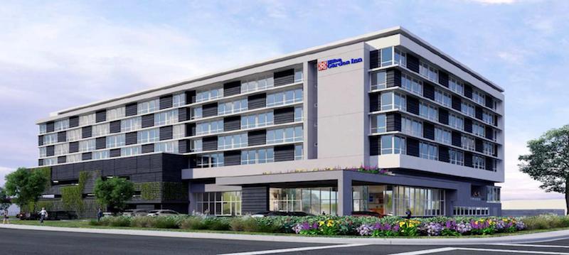 Hilton Garden Inn Hotel San Carlos SWENSON Huntington Hotel Group ACRM  Architects Commercial Industrial Road Brittan