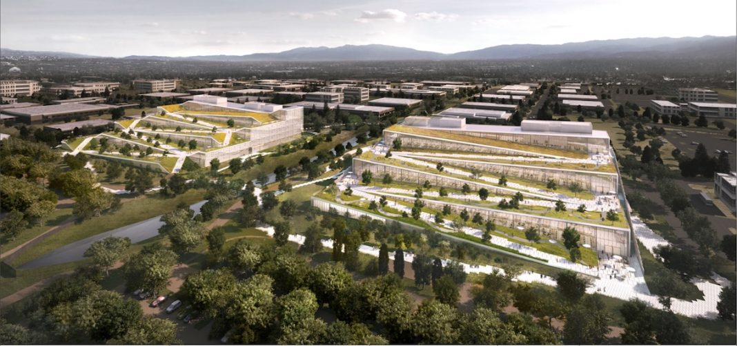 San Jose, Silicon Valley, Trammell Crow, Diridon Station, Google, Sunnyvale, Moffett Park, Bjarke Ingels Group, BIG, Clive Wilkinson Architects, Olin, Devcon Construction, KPFF, San Mateo, Sares Regis, Loisos + Ubbelohde, Point Energy Innovations, Aterlier Ten, Holmes, Kier & Wright