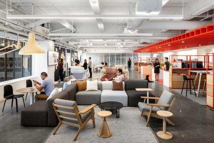 Gensler's San Francisco office, Hills Plaza building, Embarcadero, Shorenstein, Wells Fargo, Salesforce Tower, Bay Area, San Francisco, Bay Bridge, Gensler